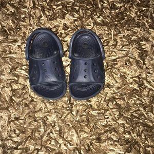 Croc sandals. Toddler size 6-7